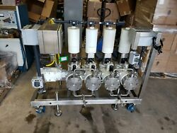 American Lewa El-4 Ecoflow Diaphragm Metering Pump System 2hp 4 Pumps On Cart