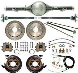 Currie 73-87 Chevy C10 5-lug Truck Dropped Rear End And Drilled Disc Brakeslines