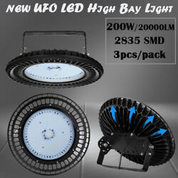 3X 200W UFO LED High Bay Light Industrial Warehouse Fixture Work Lamp Cool White