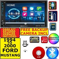 Fits/for 94-00 Ford Mustang Bluetooth Cd/dvd Usb Aux Stereo W/ Free Backup Cam