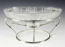 London Georgian .925 Silver Stand And Crystal Centerpiece Bowl Henry Holland 1807