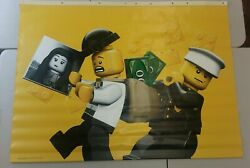 Toys R Us Exclusive Lego Vinyl Banner Mini Figures Cop And Robber 4'x 3'