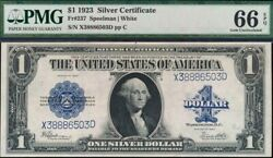 1923 Silver Dollar Large Note Pmg Gem Uncirculated-66 Exceptional Paper Quality