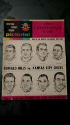 1966 Afl Championship Game Program In Buffalo Vs Kc Chiefs To Play Superbowl I
