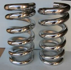 Lowrider Hydraulics 4.5 Ton Coil Springs Full Stack One Flat Edge Chrome2pcs