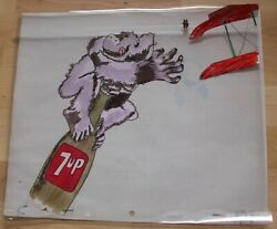Rare 7up Soda Pop Commercial Animation Production Art Cel King Kong Vintage 7 Up