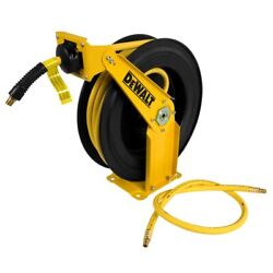 38 Inch x 50 Feet Double Arm Auto Retracting Air Hose Reel Wall Mountable Steel