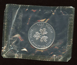 Royal Canadian Mint 1 Nickel Dollar Test Coin In Cello - Stainless Steel S.s.