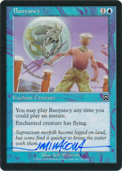 Mtg Buoyancy Mercadian Masques Signed By Artist Jeff Miracola W/ Coa