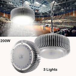 3X 200W LED High Bay Light Warehouse Bright White Factory Industry Shop Lighting