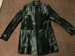 Nwt 2995 Theory Walby L - Shearling And Leather Coat - Xl - Black