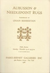 Book - Aubusson And Needlepoint Rugs Assembled By Ohan Berberyan 1966