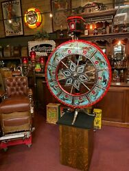 1920's HORSE RACING Reverse-Glass Gaming-Wheel with Oddsmaker