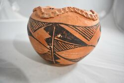 Vintage Acoma Red Clay Bowl, Signed Only Acoma Nm