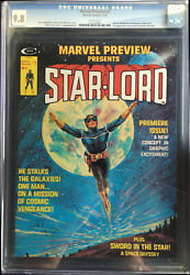 Marvel Preview #4 CGC 9.8 Origin & 1st app of STAR-LORD Gray Morrow Cover GOTG