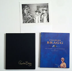 Charles Bragg Signed Art Catalog/book, Hardback, With Print, Perfect Condition,