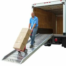 14and039 Portable Box Truck Loading Ramp Plate-end Aluminum 1700 Lb Capacity