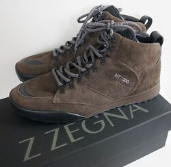 Nib Authentic Z Mt1500 Brown Suede High-top Hiking Boots Trainers Us-10.5