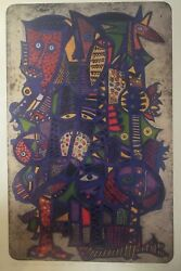 Nathaniel Bustion Signed/numbered Bobo Festival Series 2 Offset Print 27andfrac12x 17andfrac12