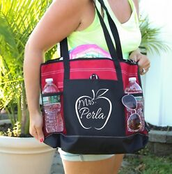 Teacher BagPersonalized Bag personalized Heavy tote bag zippered Heavy canvas $19.99