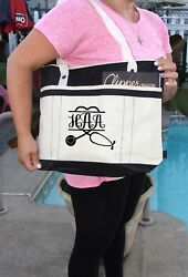 Nurse Stethoscope Heart Personalized Bag personalized Heavy tote bag zippered $21.95
