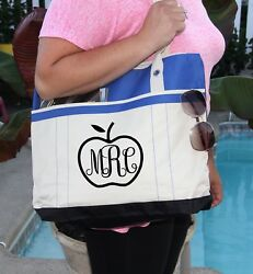 Teacher BagPersonalized Bag personalized Heavy tote bag zippered Heavy canvas $21.95