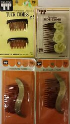Vintage Combs / Side Chignon Combs Unique Old Hard To Find Retro Items Nice