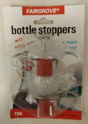 Vintage Bottle Stopperswith Safety Collars Fairgrove Unique Old Items Nice