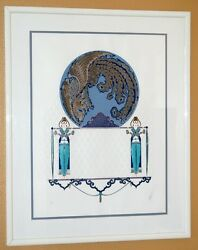 Erteand039 - Blue Asia - Signed And Numbered Embossed Serigraph - 51/300 - Perfect Cond