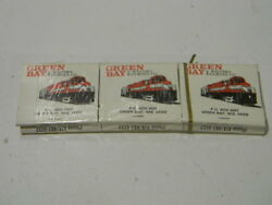 Vintage Matchbook Bundle Of Six Books Green Bay And Western Railroad Co