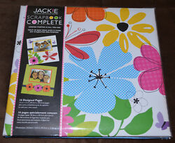 New  Tapestry 12 X 12 Scrapbook COMPLETE Album 16 Pre-Made Designed Pages Jackie