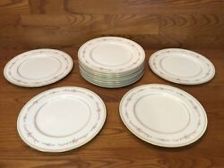 12 Mikasa China Millbrooke 10 5/8 Dinner Plates Excellent Discontinued