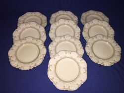 10 Crown Ducal Berkley 9 Luncheon Plates Discontinued