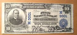 1902 Series 10 First National Bank Stevens Point, Wi June 21, 1913 Vf-xf