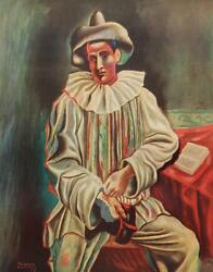Vintage Pablo Picasso Lithograph Pierrot Shorewood Press Harlequin 325p