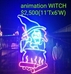 Huge Witch Commercial Halloween Light Sculpture Display,christmas,decoration