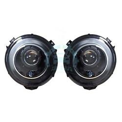 2pcs Auto Front Outside Headlight No Bulbs Black Cover Fit For Benz G-Class W463