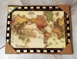 Annie Modica Large Wall WORLD MAP Home Decor NEW