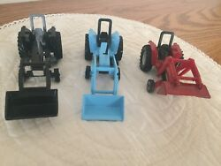 Tonka Tractors With Front Loaders Model 88 1/64 Scale By Maisto