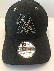 New Era Miami Marlins 2017 All-Star Game Side Patch 39THIRTY Flex Hat SZ ML