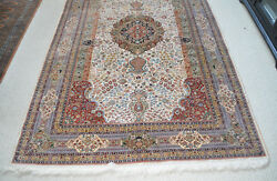 5and039x8and039 Hand Knotted Oriental Oriental Design All Silk Chinese Area Rug