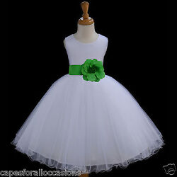 New White Grey Watermelon Lime Persimmon Oasis Flower Girl Dress M 2 4 6 8 10 12