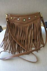 Designer JJ Winters Bohemian Fringe Medium Crossbody Messenger Shoulder Bag $47.47