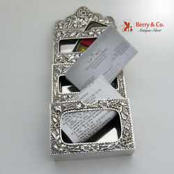 Repousse Card Holder Gorham Sterling Silver 1887