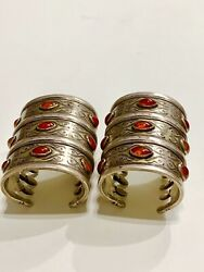 Important of Pair of Antique Turkoman Cuffs /Gorgeous Condition- Museum Quality