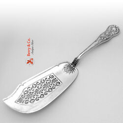 Fish Serving Knife Roses Pierced London English Sterling Silver 1830
