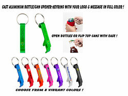 500 Combo Bottle And Pull-tab Can Opener W/key Ring, Custom Printed W/your Logo