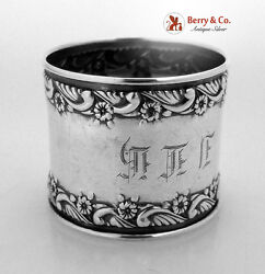 Old English Napkin Ring Towle Sterling Silver 1892 Monogram Jlh