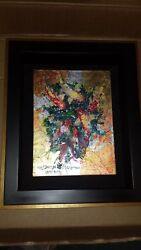 One Of A Kind Original James Coleman Tranquility On Canvas Signed And Framed