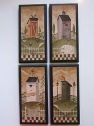 Outhouse Rustic Lodge Bath Wall Decor Plaques Country Cabin Bathroom Pictures